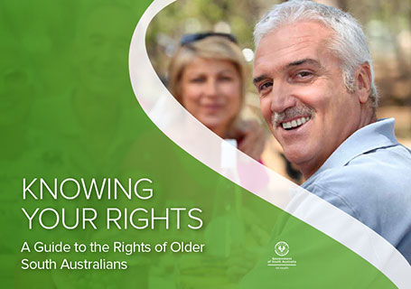 Cover image of Knowing Your Rights booklet of a senior couple