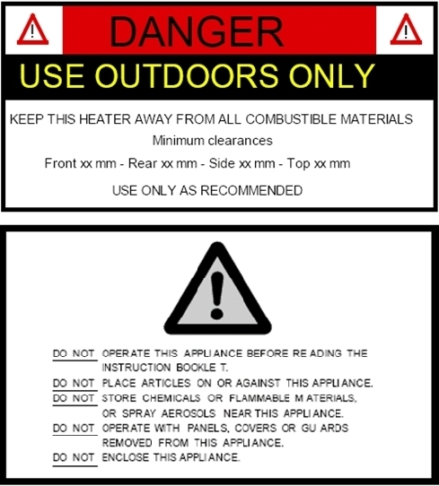 BBQ warning labels