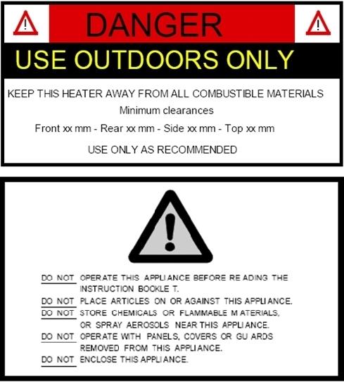 BBQ warning labels
