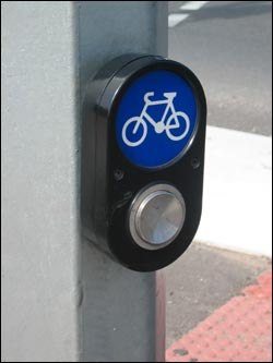Image of a cyclist push button