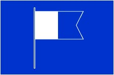 diver below flag Blue rectangle with a smaller blue and white flag with a blue outlined sideways chevron