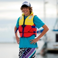 Personal flotation device that is the correct fit and is proportionate to the wearer's body size.