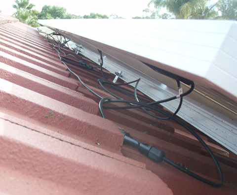 Example of cables that are not secured or protected